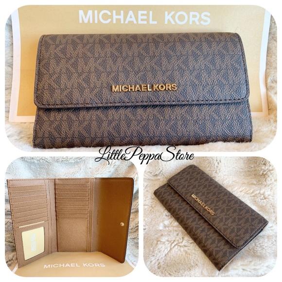 0069a23cf5ca MICHAEL Michael Kors Bags | Michael Kors Jet Set Trifold Wallet Pvc ...